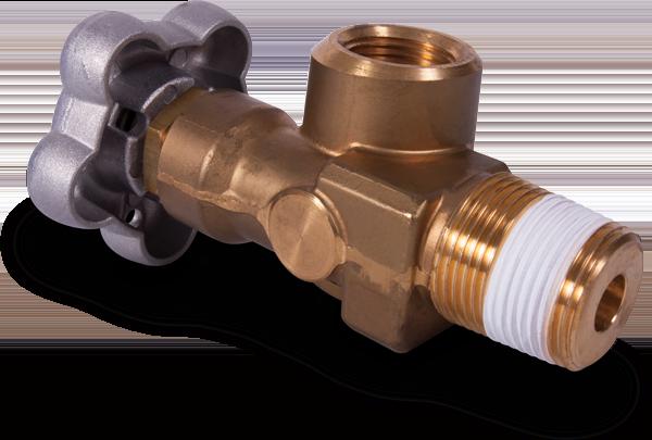 Wrapped brass valve
