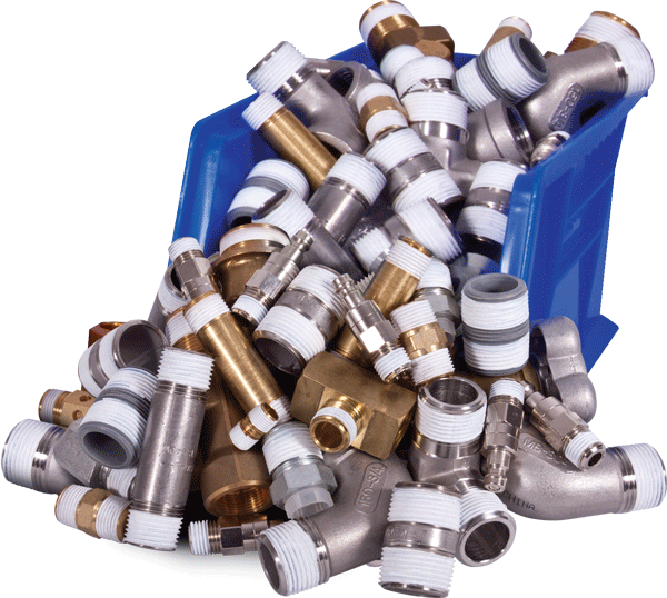 Bin of wrapped parts