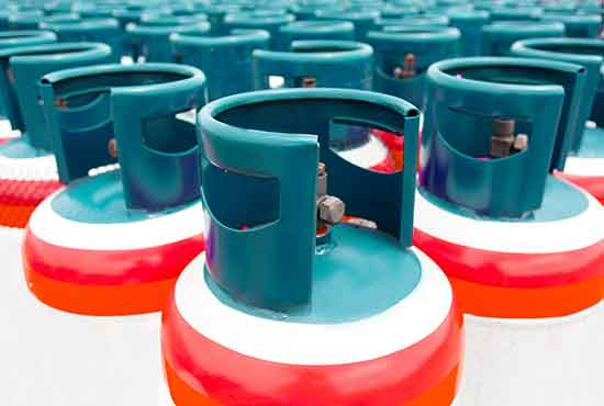 Liquid propane containers
